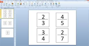 powerpoint presentations create fraction cards in powerpoint