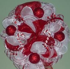 christmas mesh wreaths poly mesh wreath christmas wreath and white candy wreath