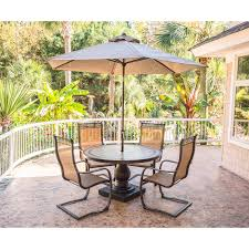 5 Piece Patio Dining Sets - monaco 5 piece outdoor dining set with c spring chairs tile top