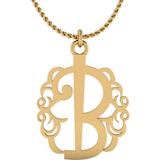 Engraved Monogram Necklace Alluring And Exclusive Personalized Monogram Necklace