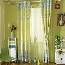 Light Linen Curtains Light Green Plaid Print Cotton And Linen Bedroom Curtains