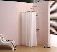 48 Inch Shower Curtain Corner Shower Curtain Rod L Bathroom Cloth Hanging Bronze