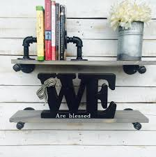 How To Decorate Floating Shelves Steampunk Shelf Industrial Steampunk Shelves Steampunk