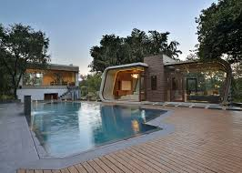 Pool House Indian Pool House By 42mm Architecture Has A Concrete Frame