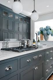 Gray Cabinets With White Countertops Kitchen Colors Maybe I Need To Paint The Walls Gray Kitchens
