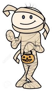 kid in halloween costume vector cartoon illustration royalty