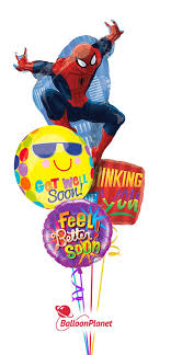 get well soon balloons same day delivery smiles get well balloon bouquet 4 mylars balloon