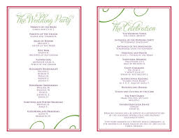 wedding reception program wedding itinerary templates free reception programs templates in