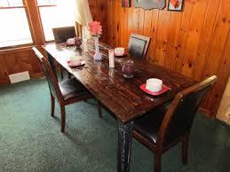 dark walnut reclaimed barn wood dining table tabula rasa