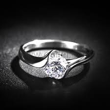 custom wedding rings custom name silver wedding ring sets for couples cubic zirconia