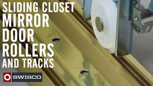 Tandem Patio Door Rollers by Sliding Closet Mirror Door Rollers And Tracks Youtube