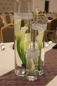 Black And Silver Centerpieces by Diamonds And Pearls Themed Party Black White And Silver Color
