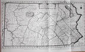 County Map Of Pennsylvania by 1785 To 1789 Pennsylvania Maps