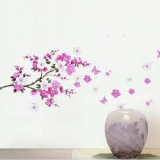 popular sticker wall murals buy cheap lots diy wall sticker pvc cherry tree magnolia pattern room home office bedroom vinyl decal art