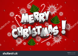 merry celebration greeting card design stock vector