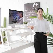 standing work height adjustable desk riser sit stand desk buy