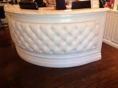 tufted salon reception desk customized sale white tufted reception desk for nail salon view