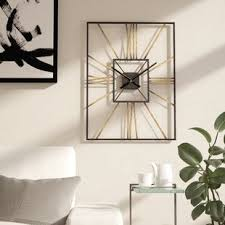 wall clock modern modern wall clocks you ll love wayfair