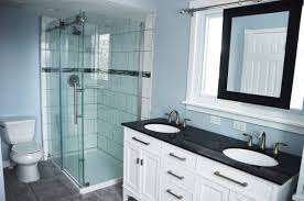 White Bathroom Cabinet With Mirror - remodelaholic master bathroom renovation with sliding mirror
