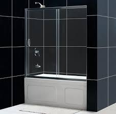 glass tub shower doors frameless dreamline showers infinity shower door frameless bathtub door