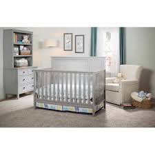 White Convertible Baby Crib Delta Children Epic 4 In 1 Convertible Crib Gray Walmart