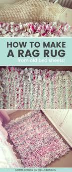 diy designs how to make a diy rag rug using old bedding
