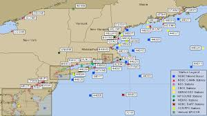 map of east coast states ndbc northeast usa recent marine data