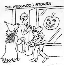 halloween window painting in wedgwood in the 1950s wedgwood in