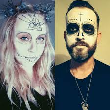 skeleton faces halloween day of the dead makeup men beard galleryhip com the hippest