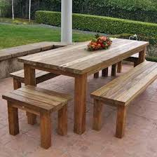 Outdoor Wooden Patio Furniture Wooden Outside Table Juniorderby Me