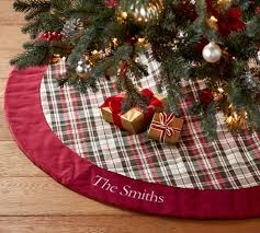 plaid tree skirt denver plaid tree skirt pottery barn