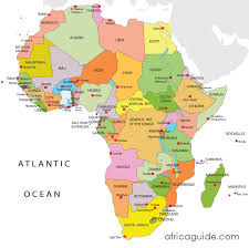 africa map countries and capitals maps of countries in africa africa map