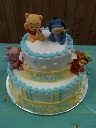 homemade twin boys winnie the pooh baby shower cake baby shower