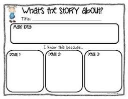 main idea graphic organizer and summary for non fiction lined