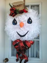 christmas mesh wreaths 26 diy tutorials and ideas to make a snowman wreath guide patterns