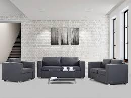 salon haut de gamme meubles de salon canapés 2 et 3 places fauteuil tissu gris