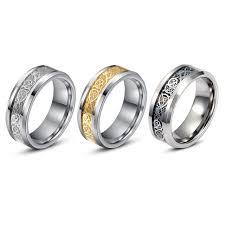 wedding band ring fashion men women 8mm width celtic titanium steel ring