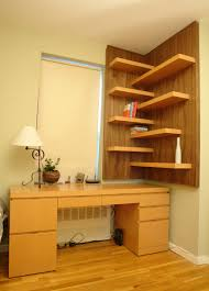 clever ways in which a corner bookshelf can fill in the blanks in