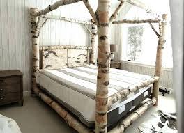 Wood Log Bed Frame King Log Bed Frame Vectorhealth Me