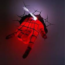 3d deco superhero wall lights marvel avengers spider man hand art fx room decor 3d deco wall led