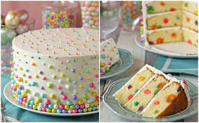 how do you make a cake to make polka dot cakes