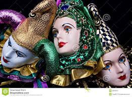 ceramic mardi gras masks mardi gras masks stock photo image 3826540
