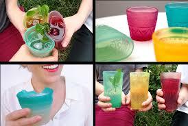 riciclare bicchieri di plastica jelloware i bicchieri di alghe alghe