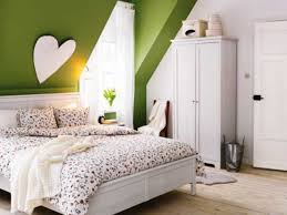 bedroom inspiring white attic bedroom with colorful cover bed