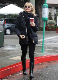 hair to hide forehead wrinkles heidi klum defies her age naturally with youthful fringe on coffee