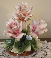 italian porcelain roses 103 best capodimonte flowers images on flower baskets