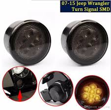 led lights for jeep wrangler jk front led turn signal light assembly for 2007 2016 jeep