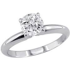 1k engagement rings 1 carat t w solitaire 10kt white gold ring