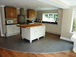 kitchen flooring ceramic tile l shaped floor plans metal look