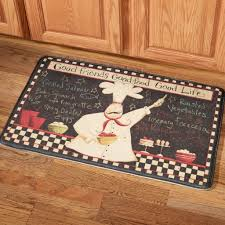 kitchen attractive black and white kitchen rug with chef and